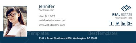 Real Estate Email Signature Design Template In Psd Html Real Estate Email Signature Templates
