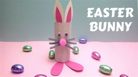 Toilet Paper Easter Bunny Craft - easter crafts toilet paper roll easter bunny toilet