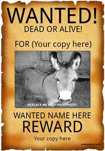 template for a wanted poster 45 wanted poster templates free premium templates