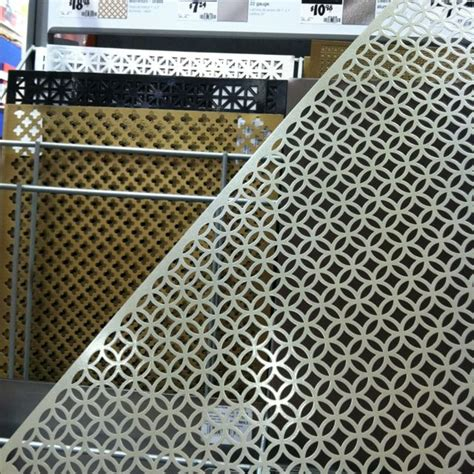 decorative metal sheets on at home depot so many