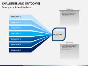 Challenge and outcome powerpoint template sketchbubble