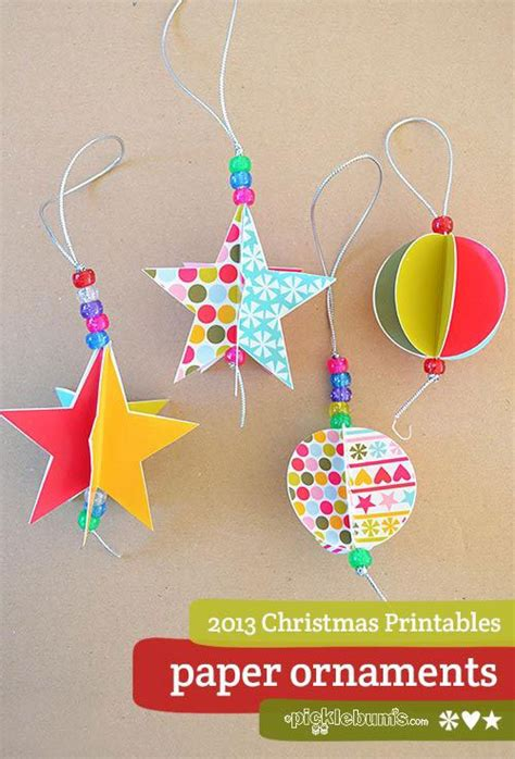 printable paper christmas decorations 38 easy handmade christmas ornaments