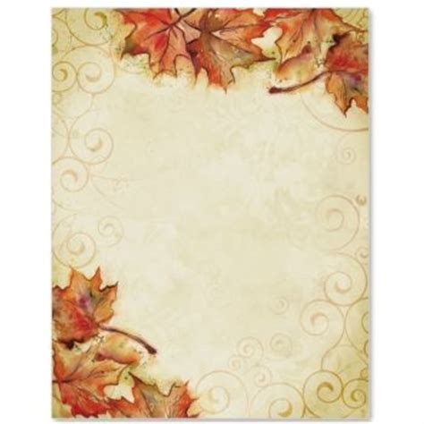 fall leaves stationery printable microsoft printable thanksgiving stationery fall page