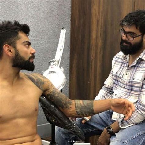 virat kohli tattoo design virat kohli visits mumbai studio for consultations