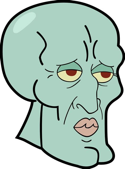 anime tattoo png image squidward head funny png trollpasta wiki