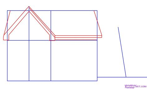 drawing a house how to draw a house step by step buildings landmarks