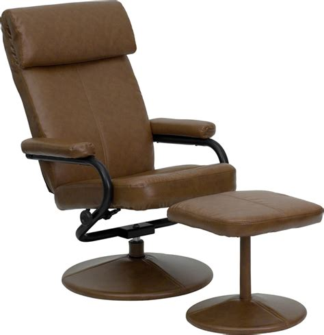 Leather Recliner With Ottoman Flash Furniture Contemporary Palomino Leather Recliner Ottoman W Leather Wrapped Base Bt