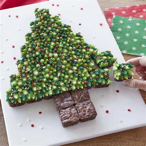 best pull apart christmas tree pull apart brownie bite tree wilton