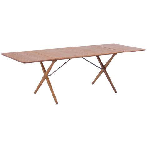 Cross Leg Dining Table Hans J Wegner Cross Leg Dining Table By Andreas Tuck Model At 309 For Sale At 1stdibs