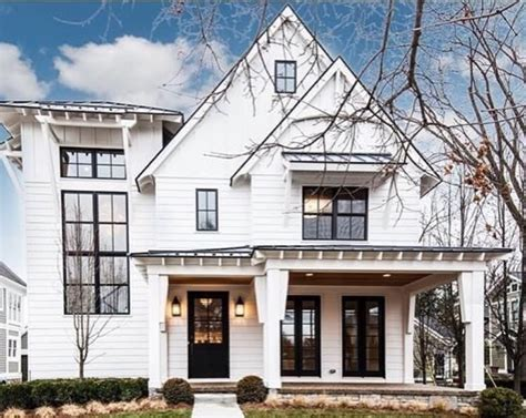 white house with black windows the ultimate commitment choosing an exterior home color