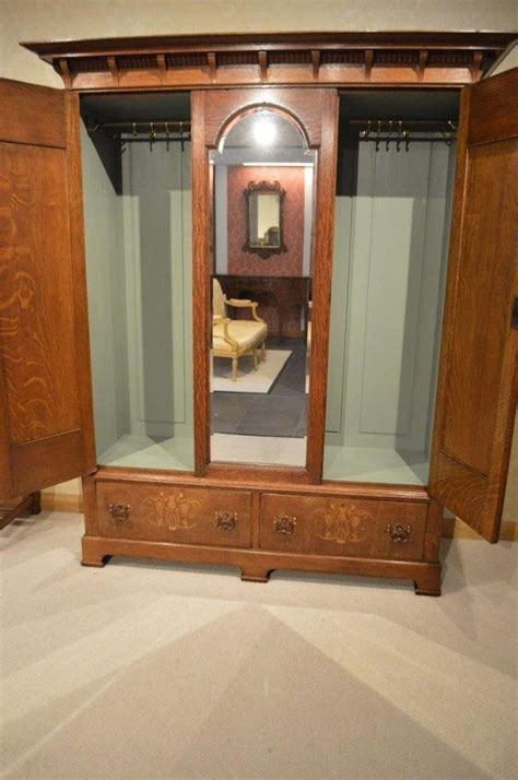 Wardrobes With Dressing Table by An Oak Arts And Crafts Period Wardrobe And Dressing Table