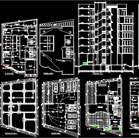 Free Apartment Plans Cad Files Free Cad File Apartments Commercial Building File Dwg