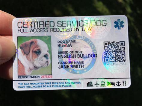 service id service id card customized holographic esa ada seal ebay