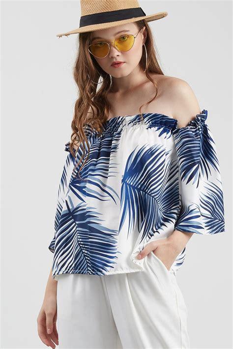 Atasan Tangan Lebar Blouse Cantik Simple Top sell sweet palm top blouse berrybenka
