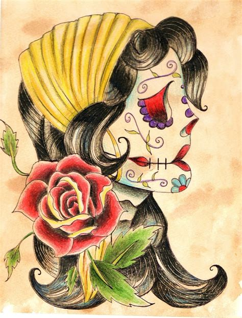 gypsy skull tattoo designs by hollywatts on deviantart