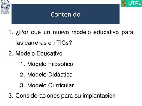 Modelo Curricular Verbal Didactico Modelo Curricular Para Carreras Tic En La Era Conocimiento Dr