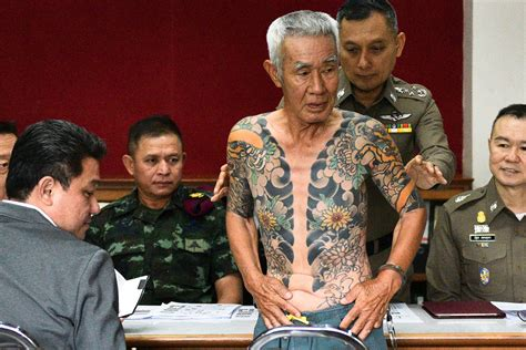 yakuza tattoo boss who are the yakuza gang boss shigeharu shirai arrested