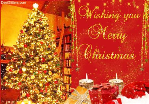 wishing  merry christmas glitter image