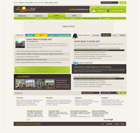 design home page 28 images portal design home page by