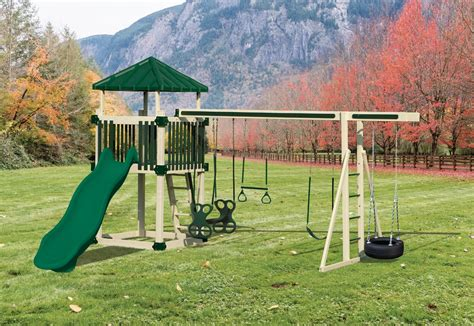 free swing sets kc 5 deluxe maintenance free swing set delivered and