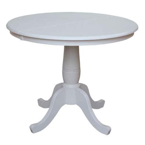 36 Inch White Pedestal Table 984k3136rxt 055