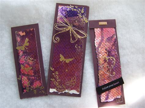 Paper Craft Bookmarks - paper crafts scrapbooking bookmarks set 1
