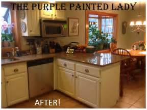 awesome Best Paint Type For Kitchen Cabinets #4: The-Purple-Painted-Lady-Kitchen-BEFORE-AFTER-SUsan-Old-White-2.jpg