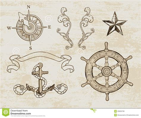 nautical designs nautical design set royalty free stock images image