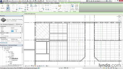 tutorial revit mep 2014 adding mechanical equipment from the course revit mep 2014