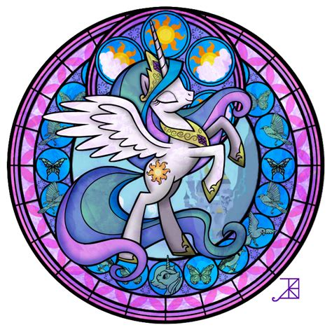 mlp nightmare moon stained glass celestia stained glass by akili amethyst on deviantart