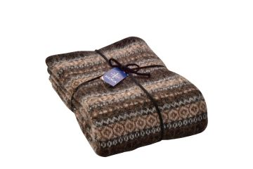 Wohndecke Wolle by Wohndecke Tagesdecke Gestreift Braun Woll Decke Bett