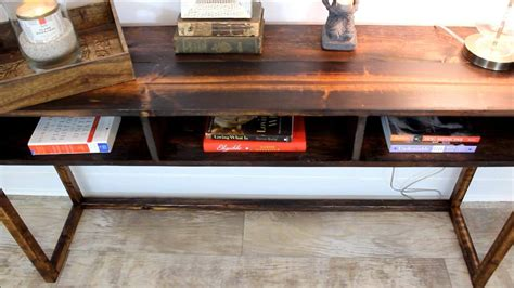 your own rustic table how to build your own rustic diy console table for 30