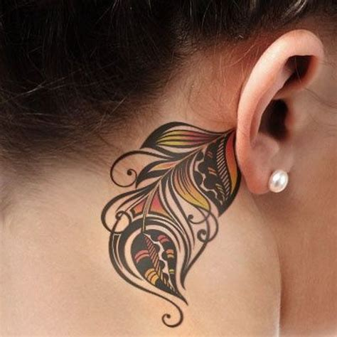 feather tattoo designs behind ear 60 pretty designs of ear tattoos 2017