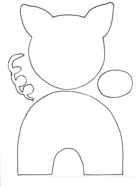pig template for preschoolers pig craft all network