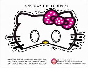 free coloring pages of hello kitty mask