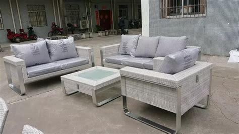 modern hotsale aluminum wicker rattan sofa set outdoor