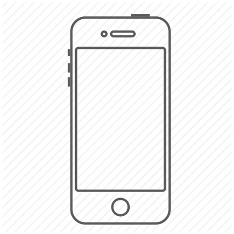 Apple, call, iphone, outlined, phone, smartphone icon ...
