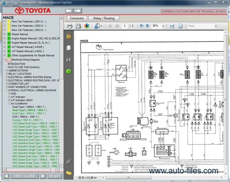 toyota hiace repair manuals wiring diagram
