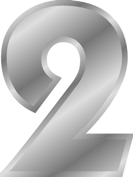 Effect Numbers Silver Clip Art at Clker.com - vector clip