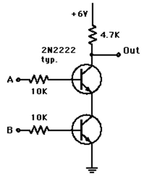 transistor nand gate tutorial diode logic gates