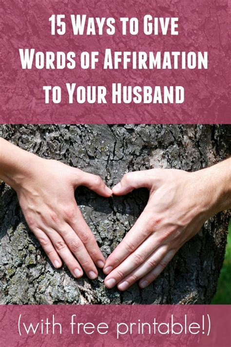 fun ways    give words  affirmation