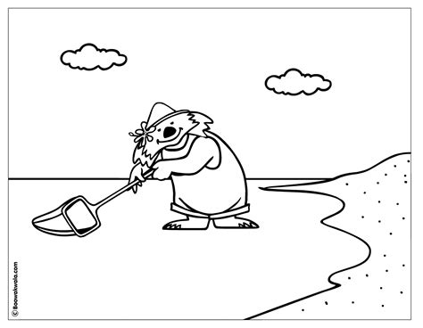 coloring page of fishing net net fishing coloring page