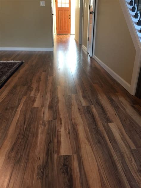 before and after laminate floor install