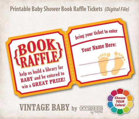 printable raffle ticket books 24 best book instead of card images on pinterest shower