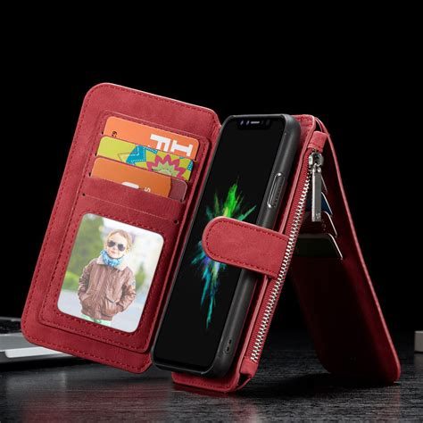 Iphone 8 Plus Zipper Wallet by Luxury Magnet Leather Removable Wallet Zipper Cover For Iphone X 6 7 8 Plus Ebay