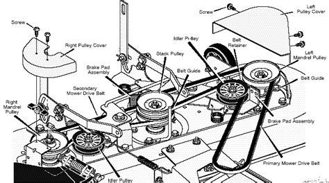 46 inch craftsman mower belt diagram 46 free