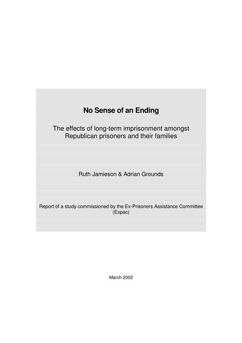 (PDF) No sense of an ending: the effects of long-term
