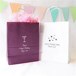 Birthday Favor Bags Ideas by Personalized Gift Bags Birthday Gift Bags Personalized