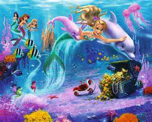 Mermaid Wall Murals Walltastic Mermaids Kids Wall Mural Bubs N Grubs