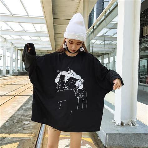 autumn chic oversized women funny thin hoodies korean
